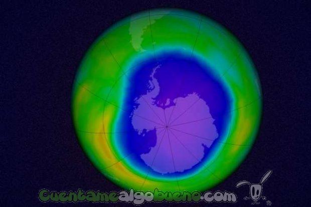 Primeras evidencias del cierre del agujero de la capa de ozono. Foto: MIT.