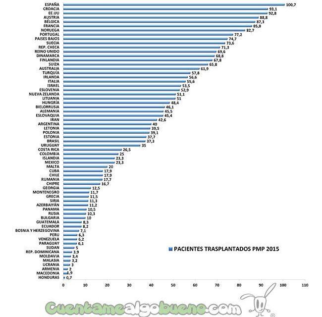 Aumentan los trasplantes en el mundo y España sigue siendo líder