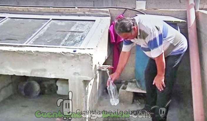 Inventor palestino crea desalinizadora y depuradora solar de agua casera
