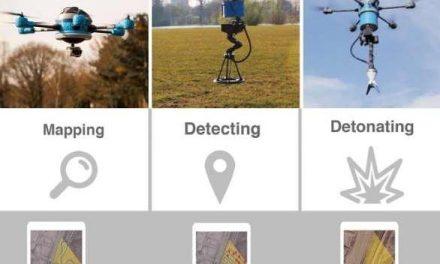 Crean un Dron que mapea, detecta y destruye minas enterradas