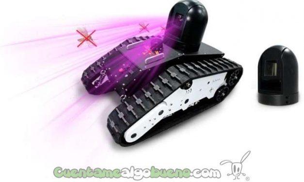 Crean un tanque robot matamosquitos con láser