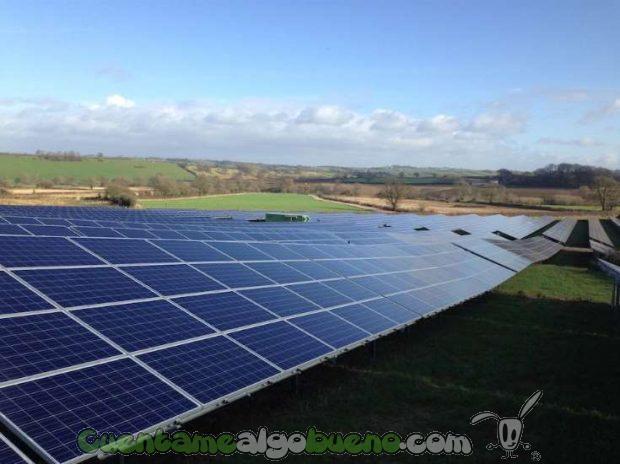 Imagen del parque fotovoltaico de Crewkerne, construido por OPDE.