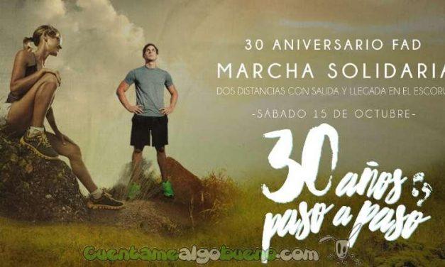Marcha Solidaria 30 años paso a paso en El Escorial