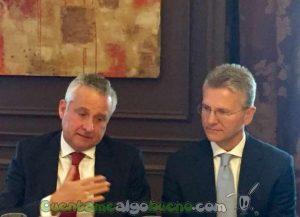 Jaime Hortelano y Carmine Auletta, CEO de Grupo CMC e InfoCert, respectivamente.