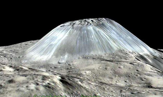 La NASA descubre un volcán de hielo y agua en Ceres