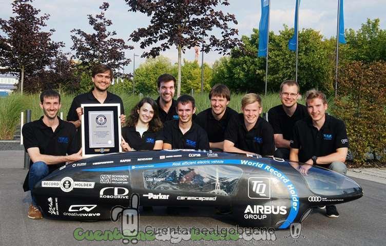 El vehículo eléctrico más eficiente del mundo