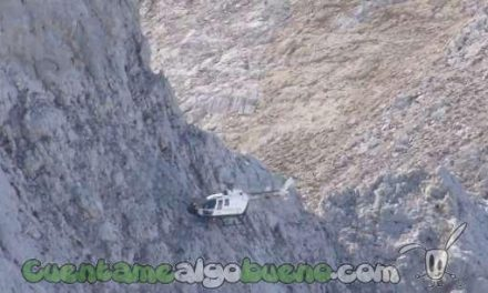 Impresionante rescate dos montañeros en los Picos de Europa