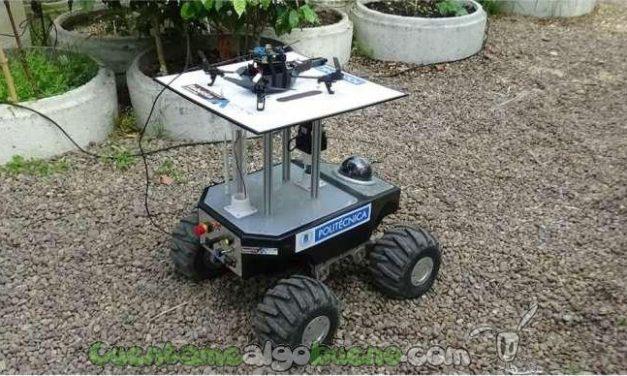 Un robot terrestre y otro aéreo trabajando conjuntamente en el invernadero