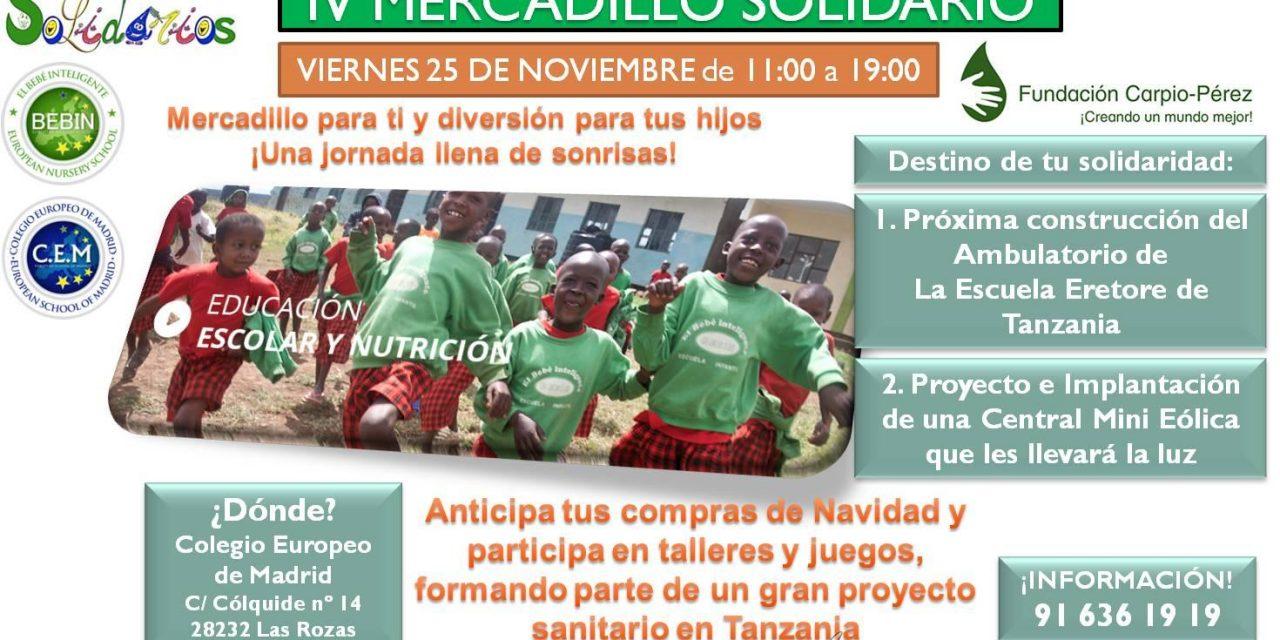 Mercadillo Solidario en el Colegio Europeo de Madrid