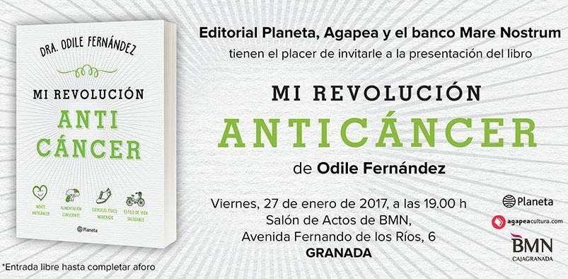 Ésta tarde Presentación del Libro MI REVOLUCIÓN ANTICÁNCER en Granada