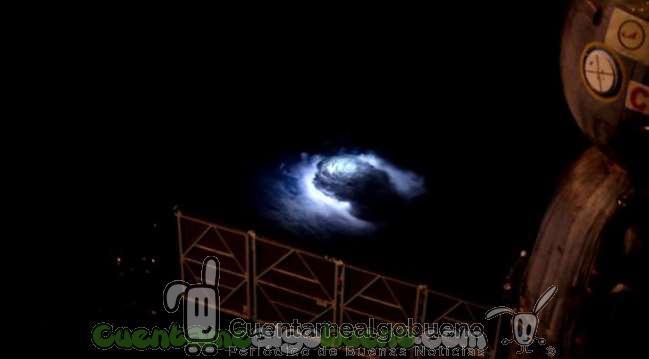 Llamativos 'chorros azules' en la atmósfera