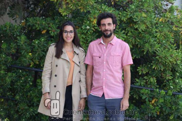 Los investigadores de la UGR Noelia Ruiz y Ángel Correa, autores de este trabajo. Foto: UGR.