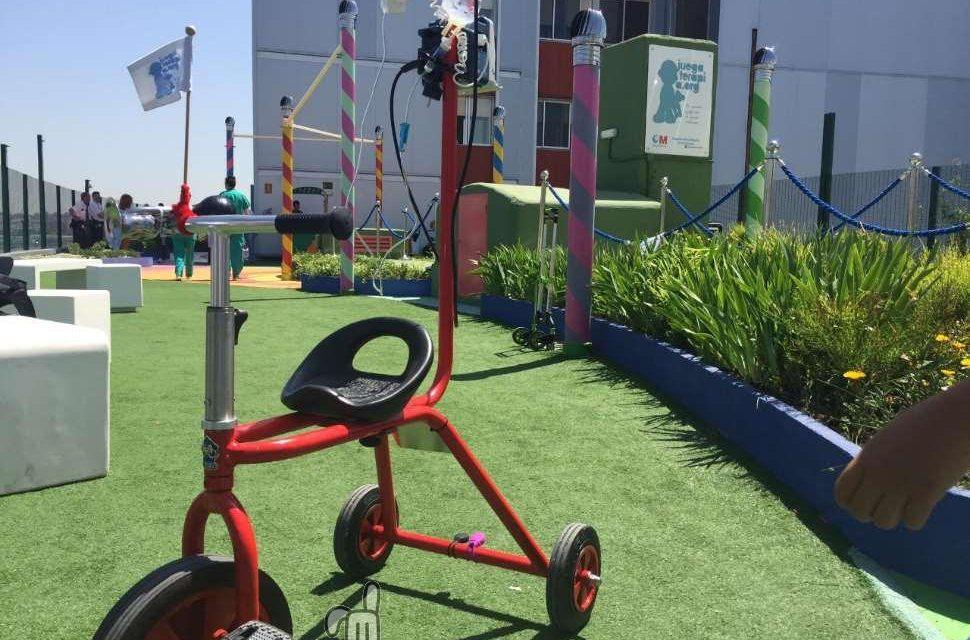 Crean un triciclo portasueros para niños hospitalizados en el 12 de Octubre