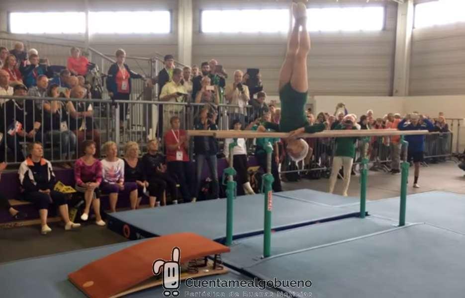 Una gimnasta con 91 años deja la boca abierta a todos