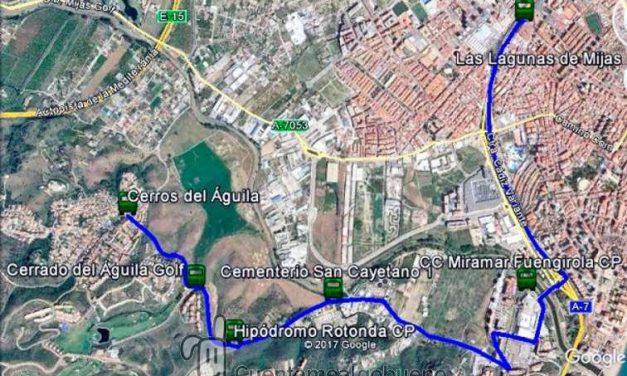 Nueva ruta de autobús interurbano entre Las Lagunas y Cerros del Águila (Mijas)