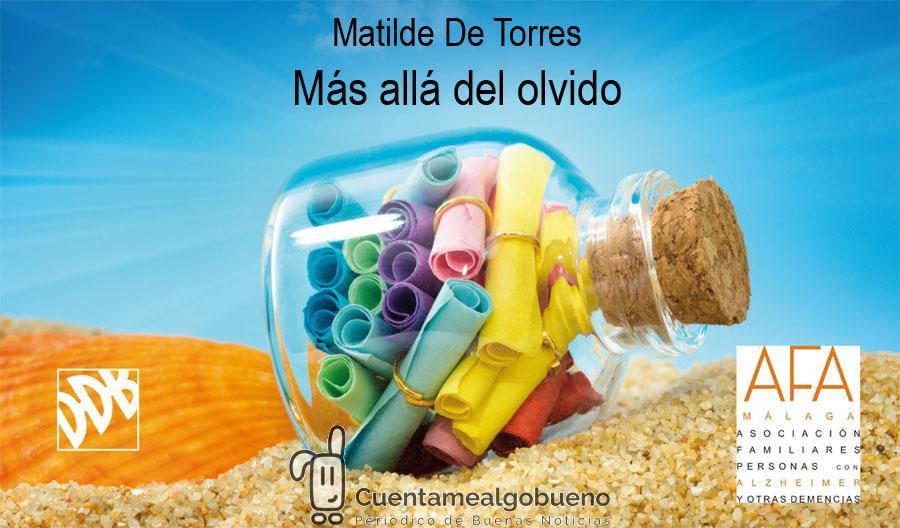 Presentación del nuevo libro de Matilde de Torres Villagrá, Más allá del olvido