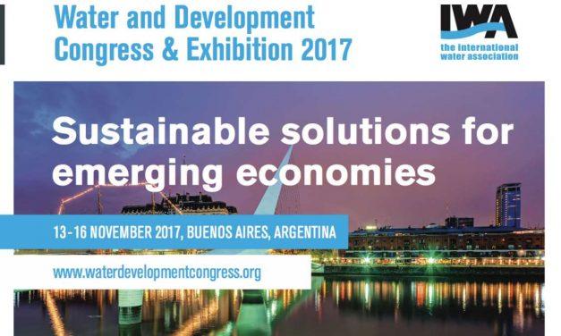 Congreso mundial de agua y saneamiento IWA 2017 en Buenos Aires