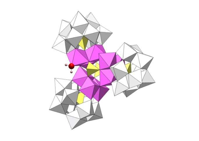 Estructura del nuevo catalizador, un polioxometalato de cobalto y wolframio. Foto: ICIQ
