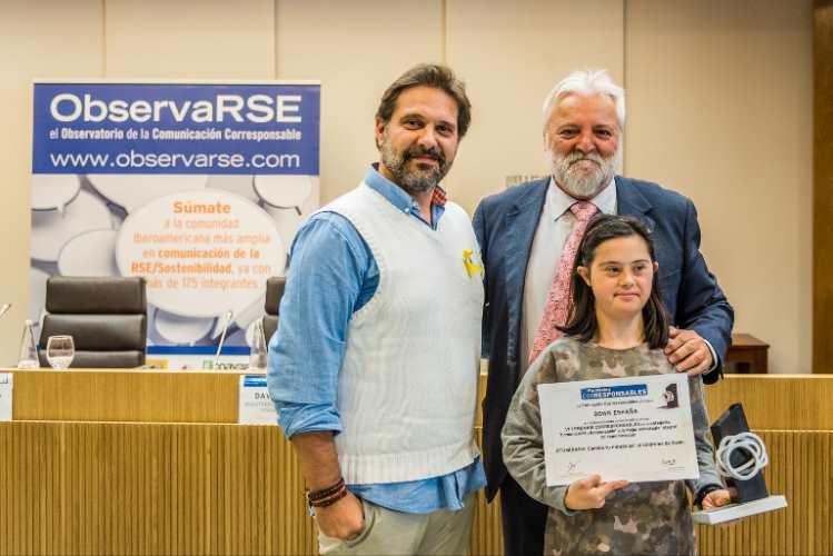 #XTUMIRADA de Down España recibe el Premio Corresponsables