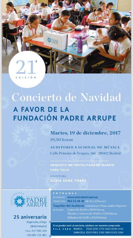 Cartel del concierto de Navidad de la Fundación Padre Arrupe