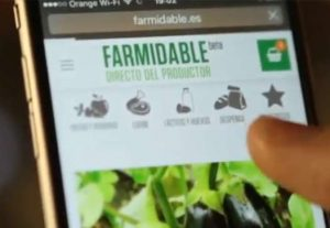 Los consumidores piden en la plataforma online de Farmidable los alimentos directamente a los productores