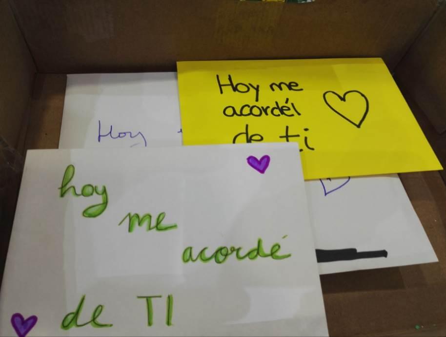 """""""Hoy me acordé de ti"""" algunos ejemplos de cartas escritas por niños"""