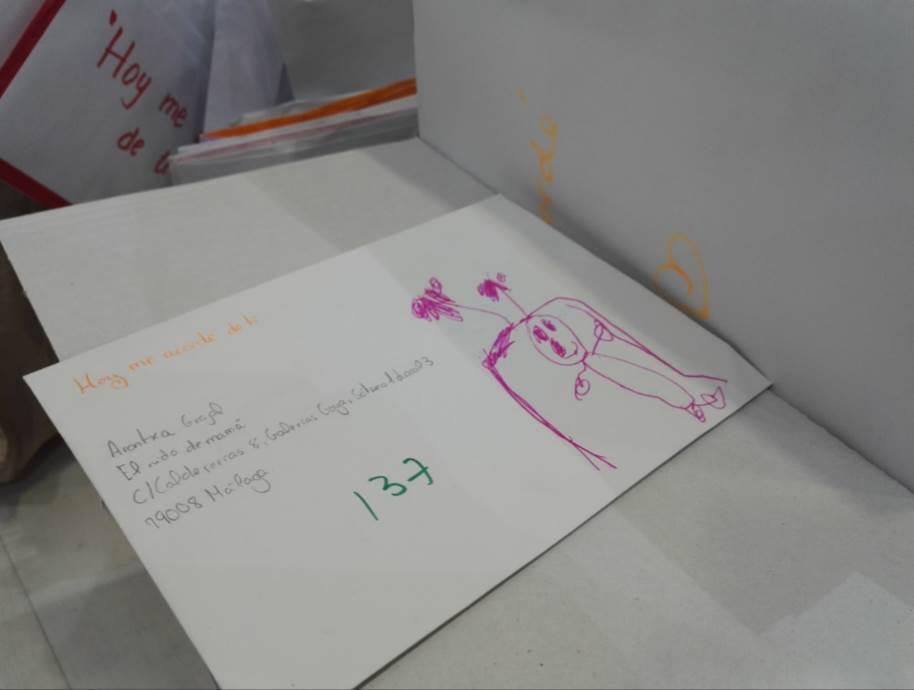 Otro ejemplo de carta escrita por un niño en un colegio