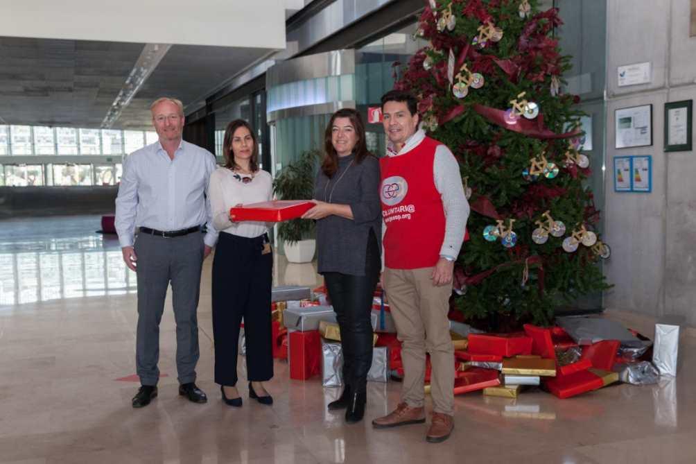Acto de entrega de las cajas de regalo en la EUIPO
