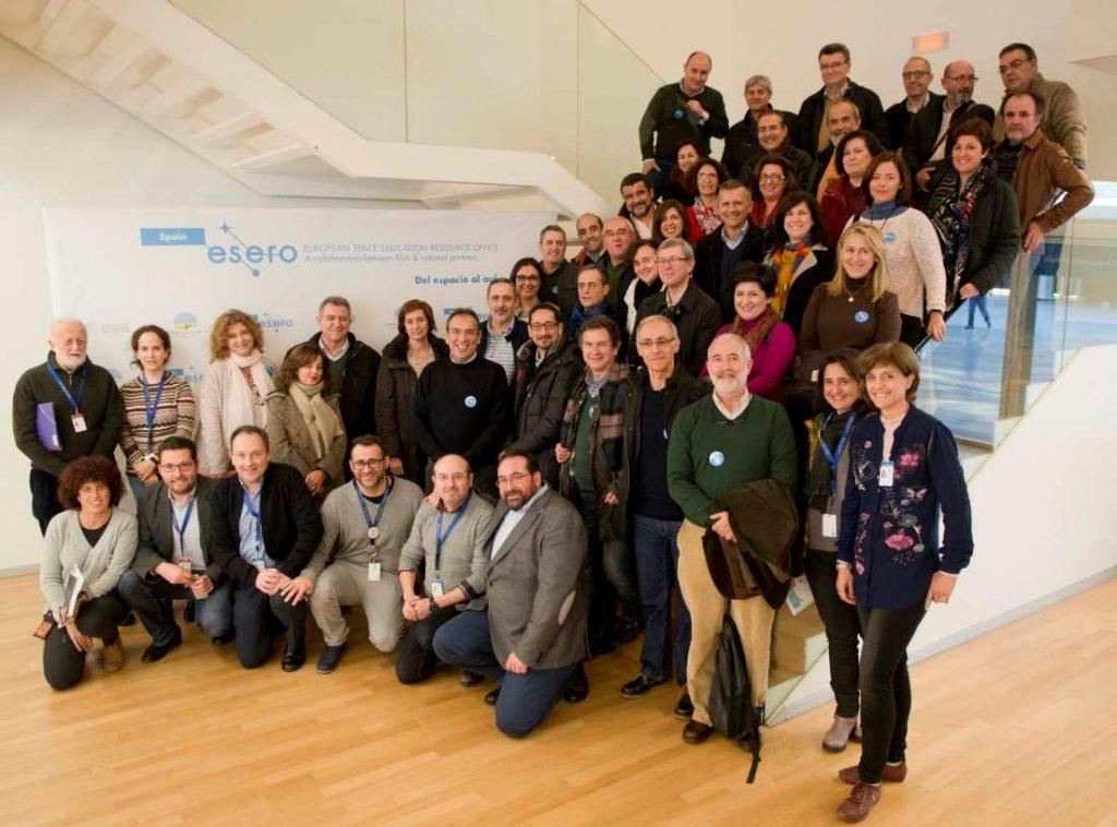 Representantes de los CEPS de Andalucía reunidos en la sede de ESERO en Granada
