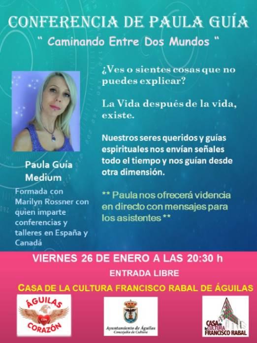 Charla de Paula Guía en Águilas
