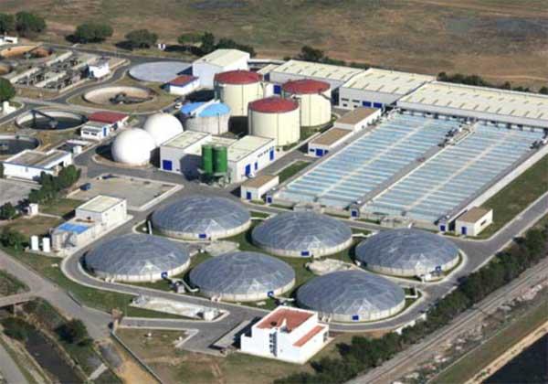 La Estación de Depuración de Aguas Residuales de Ranilla, en Sevilla, donde se han realizado los ensayos. Foto: Emasesa