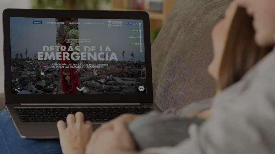 """La campaña""""Detrás de la emergencia"""" cuenta con una web con contenido audiovisual"""