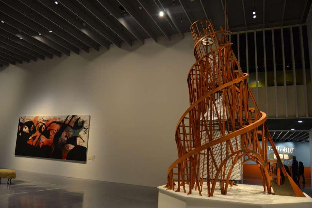 Cees Van Riel expuso sus conclusiones de cómo puede mejorarse la relación de patrocinio entre empresas y museos. Foto: exposición en el museo Pompidou