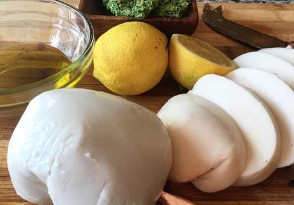 Mozzarella vegana de eseChé