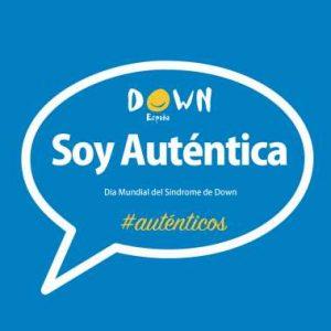 """Down España invita a que hoy las personas se hagan un selfie con la pegatina de """"Soy Auténtica"""" y lo suban a las redes sociales"""