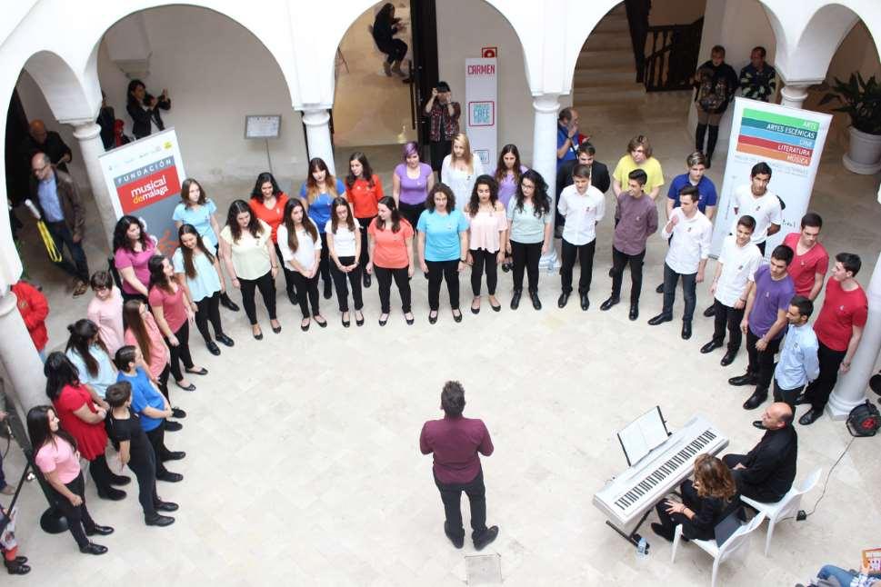 Una actuación de la Fundación Musical de Málaga en 2017, que este año vuelve a participar en el MaF