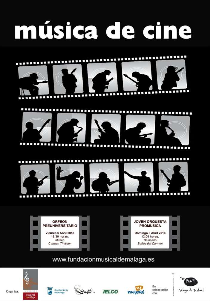 Cartel de los dos conciertos que la Fundación Musical de Málaga celebrará en el MaF