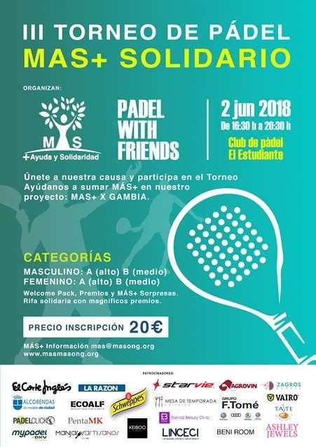 Torneo de Pádel Solidario para ayudar a los niños de Gambia