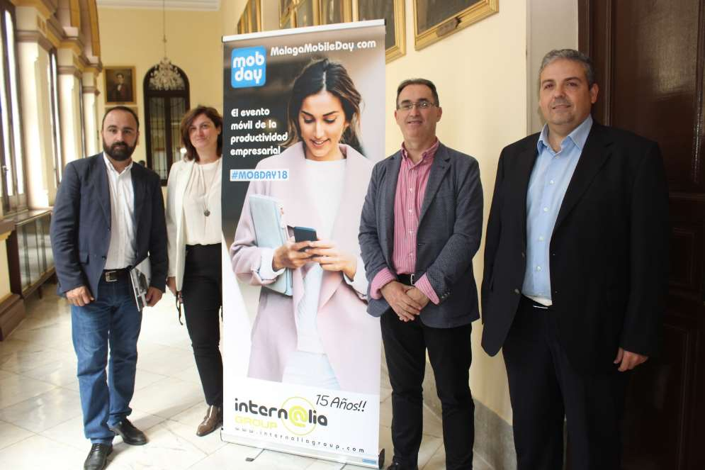 Mario Cortés, Rocío García, José Ramón Suárez y Francisco Orellana en el acto de presentación del MOBDAY 2018