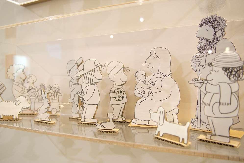 La exposición cuenta con dibujos originales de Frato