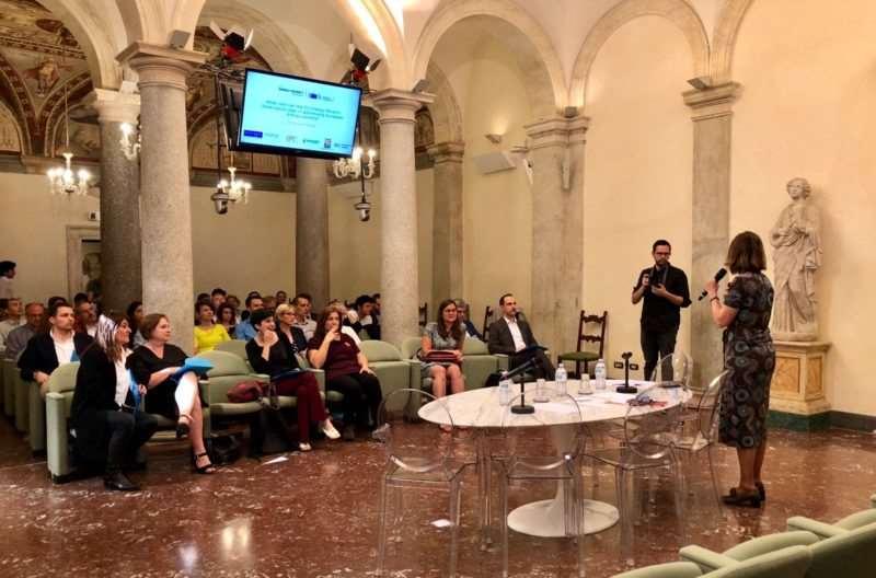Acto de presentación de las iniciativas ganadoras en Roma
