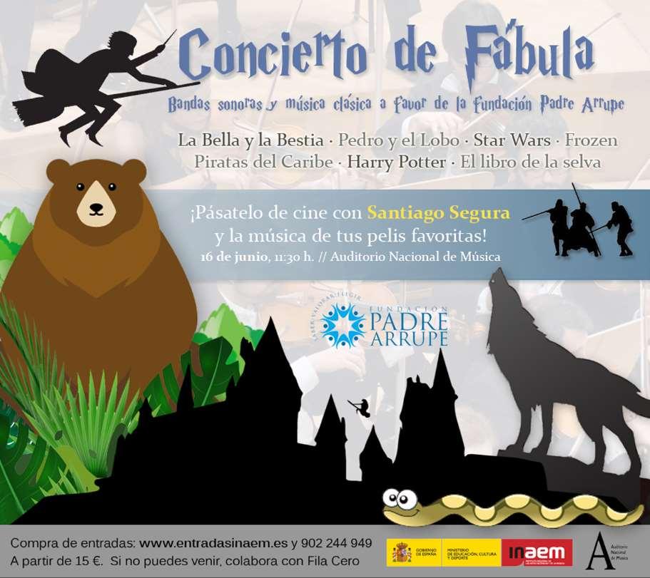 Cartel del Concierto de Fábula de la Fundación Padre Arrupe