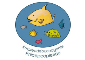 Con elhashtag #MareaDeBuenaGente propone a la pecera que decoraba el dormitorio de Gabriel como el icono de Twitter que refleje estas acciones positivas en las redes sociales