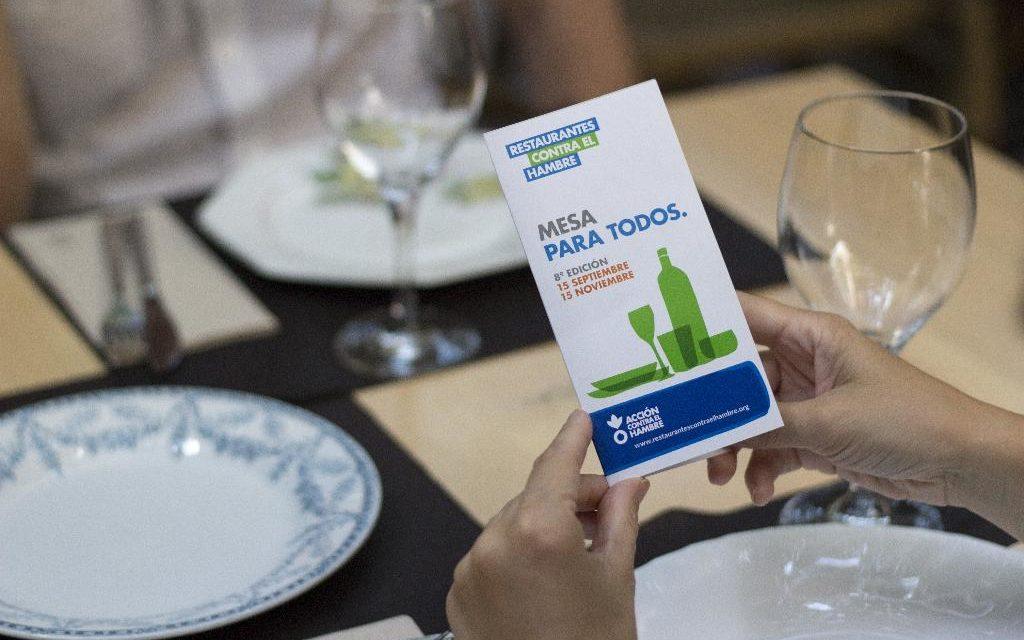 Restaurantes contra el Hambre abre sus inscripciones para combatir la desnutrición infantil