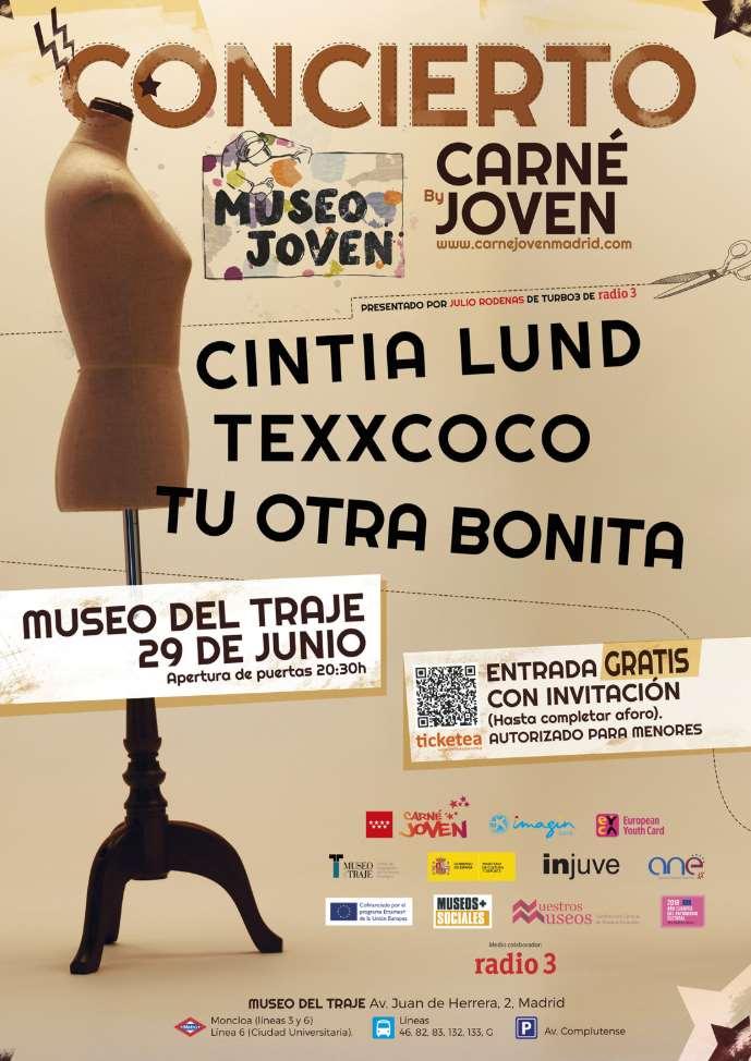 El 29 de junio tendrá lugar en el Museo del Traje el concierto inaugural con Cintia Lund, Texxcoco y Tu Otra Bonita