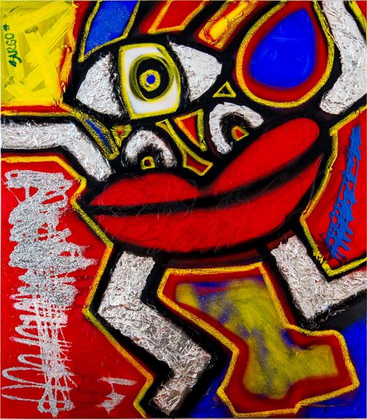 Juliana del Burgo comenzó a pintar monstruos, felices y amorosos