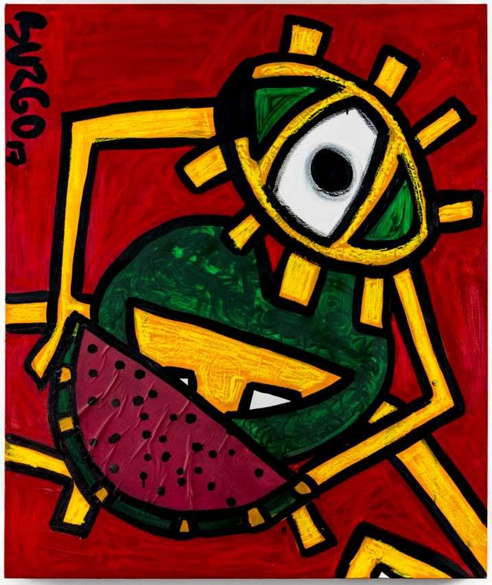 Watermelon Devorator - Devorador de sandía (Transformación a través del Arte, de Juliana del Burgo)