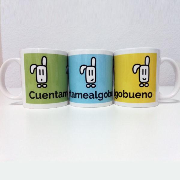 Pack de tres tazas originales de Cuentamealgobueno