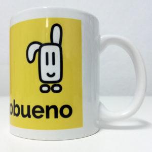 Taza Amarilla original de Cuentamealgobueno - vista lateral izquierda