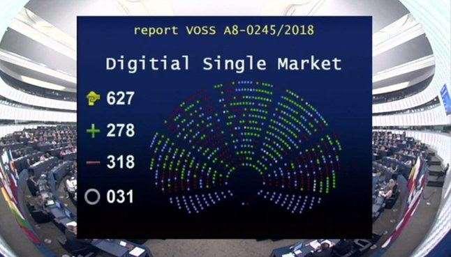 El Parlamento Europeo rechaza la nueva reforma europea sobre derechos de autor